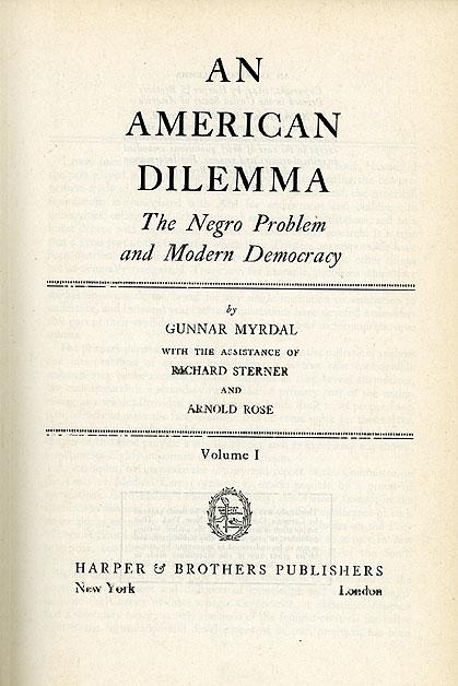 Gunnar Myrdal_American Dilemma